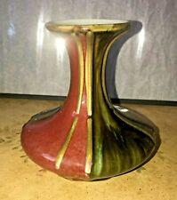 Black and Red Ceramic Flower Vase, Decorative Floral Vase for Home Decor
