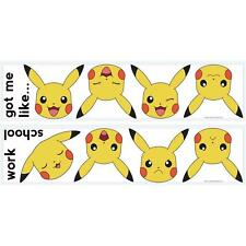 PIKACHU FACES WALL STICKERS 12 New Pokemon Decals Yellow Nintendo Decorations