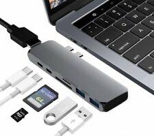Branch USB-C 7-in-1 Portable Adapter Multi-Port Hub 2xUSB HDMI MacBook Pro