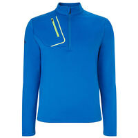 Callaway Golf Mens 1/4 Zip Opti-therm Fleece Pullover - Magnetic Blue SMALL XXL