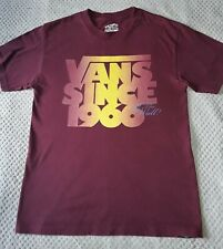 Vans Off the wall T-Shirt. Medium Mens Burgundy Top