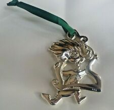 DR SEUSS Ornament THING 2 Silvertone w/Ribbon METAL Cat in the Hat ~ FREE SHIP!