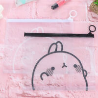 1Pc Cute Rabbit Sheer Pvc Pencil Pen Case Cosmetic Pouch Pocket Makeup Bag ATAU