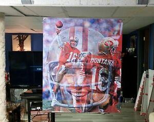 BIG! 41x34 JOE MONTANA Vinyl Banner POSTER San Francisco 49ers Jerry Rice ART. .