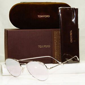 Authentic Tom Ford Mens Womens Mirror Sunglasses Silver TF 551 Ace 02 18Z 34837