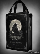 Restyle Magic Spells Black Book Raven Moon Emo Punk Gothic Handbag Purse Bag
