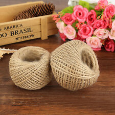 30M Natural Hemp Linen Cord Twisted Burlap Jute Twine Rope String Jewelry Making