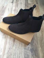 Mens Sole Brown Suede Chelsea Boots 8 Topman Zara