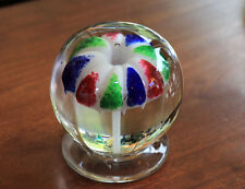 Millville, NJ footed umbrella paperweight attrib. Emil Stanger,ca 1900 [11181]