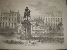 A Sketch in Leicester Square London 1868 old print ref Z1