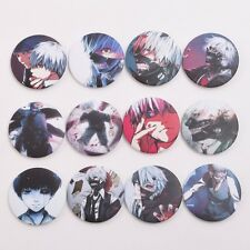 12pcs Anime Tokyo Ghoul Badge Pins Ken Kaneki Buttons Bag Clothes Accessories