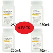 4 Bottles Sterile Irrigation Solution USP Normal Saline 250ml Sodium Chloride