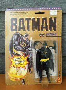 New 1989 Vintage Toy Biz Batman w/  Bat Rope Action Figure MOC