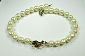 Mariquita Masterson Faux Pearl and Glass Necklace Sterling Silver Vermeil N960