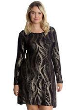 Polyester Paisley Plus Size Dresses Tunic/Smock Dress