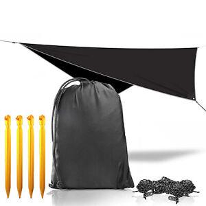 Outdoor Rain Fly Tent Awning Shade Camping Hammock Shelter Canopy Camp Gear