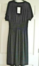 ZARA BNWT SIZE MEDIUM 12 14 STRETCH DRESS BLACK MIDI LADIES GIRLS