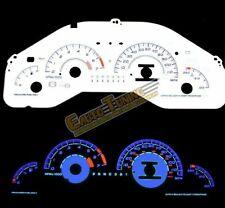 White Indiglo El Gauges Kit Glow BLUE Reverse for 97-03 Pontiac Grand Prix
