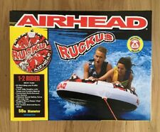 """NEW Airhead Ruckus 58"""" 2-Person Towable Tube Inflatable Rider Water Sports Raft"""