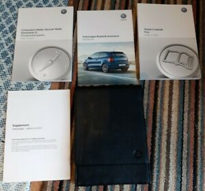 GENUINE ORIGINAL VW POLO COMPLETE HANDBOOK OWNERS MANUALS AND LEATHER HOLDER