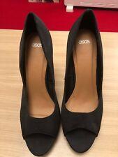 ASOS Black Open Toe Court Shoes Size 7