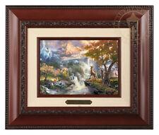 Thomas Kinkade Bambi's First Year 5 x 7 Framed Brushwork (Brandy Frame)