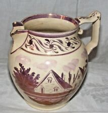 ANTIQUE SWANSEA LUSTRE JUG HAND PAINTED WELSH POTTERY FOR RESTORATION