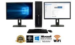"HP Desktop Computer🚩32GB 2TB SSD Quad Core i7 🚩Win 10 Pro PC 24"" Dual LCD WIFI"