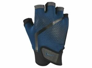 Nike Mens Extreme Fitness Sports Weight Lifting Gym Training Gloves Black Blue