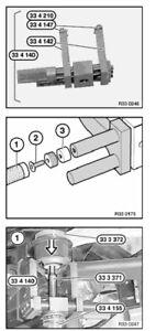 BMW E46 323 325 328 330 Z4 Rear Subframe Bushing Tools 334 140 & 334 155