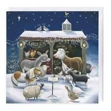 100% Recyclable Farmyard Nativity Christmas Card