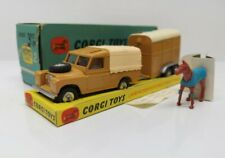 "CORGI TOYS # Gift Set No.2 -  Land Rover w/ ""Rice's"" Pony Trailer and Pony - MB"