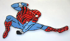 SPIDERMAN SPIDER MAN LEAPING  Embroidered Sew Iron On Cloth Patch Badge APPLIQUE