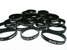 Attitude Is Everything Motivational Rubber Morale Wristband Bracelet Gym Sports