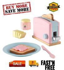 Toaster Set - Pastel, Composite wood, Kids Kitchen Appliances.
