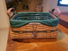 Longaberger – Christmas Collection 2002 Edition Traditions Basket (Green) Combo