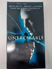Unbreakable Vhs Touchstone 2001 M Night Shyamalan Bruce Willis Horror/Superhero