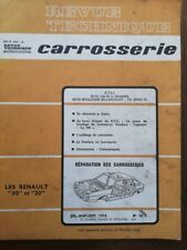 RENAULT 30 20 R30 R20 Revue technique CARROSSERIE RTA 55C 1976