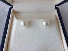 AUTHENTIC MIKIMOTO 9.5 MM PEARL EARRINGS, MIKIMOTO BOXES