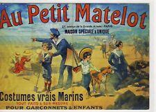 CP ART Fantaisie PARIS Affiche Magasin AU PETIT MATELOT Marin Pub illustration
