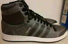 2015  Adidas TOP TEN HI  WOVEN  mens size 10.5  gray BLACK  rare DS