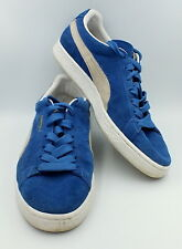 Puma Suede Sneakers Skateboard Men's Size 10 Olympian Blue White Shoes Classic