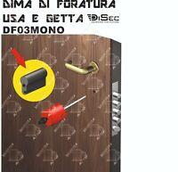 DIMA DI FORATURA DISEC DF03MONO ECONOMICA PER SERRATURE CILINDRO 38mm STANDARD