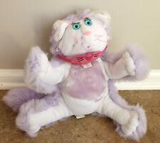 Vintage 1987 Fisher Price Purr-Tenders Purple Stuffed Toy Cat
