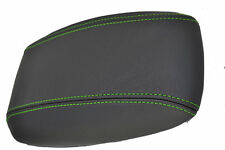 FITS VAUXHALL VECTRA B LEATHER ARMREST COVER L GREEN STITCH