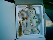 "Lenox China 2000 Gingerbread Man ""A Christmas Treat"" In Box Christmas Ornament"