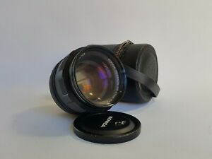 Konica Hexanon AR 57mm f1.4 Lens Vintage Clean With Black Leather Case Lens