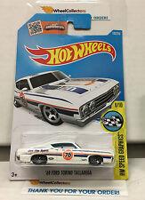 '69 Ford Torino Talladega #163 * WHITE 76 Tampo * 2016 Hot Wheels * N171