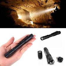 Flashlight AAA  Mini Penlight Torch Hugsby XPE-R3 LED 120LM Lamp Clip