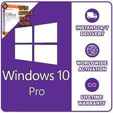 Original Microsoft Windows 10 Pro Key For 32/64Bit 1 PC (LifeTime)